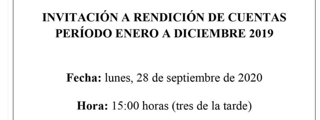 INVITACIÓN A RENDICION DE CUENTAS 2019
